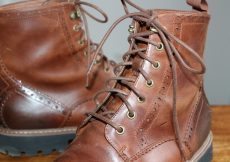 Clarks dark tan brogue boots