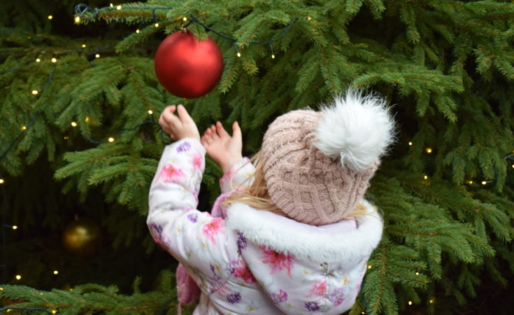Christmas bauble at Leeds Castle