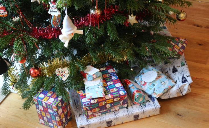 Christmas gifts round the tree