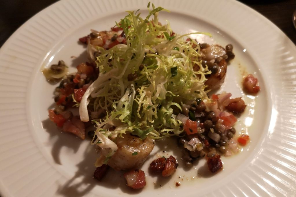 Seared scallops Maistone Cote review