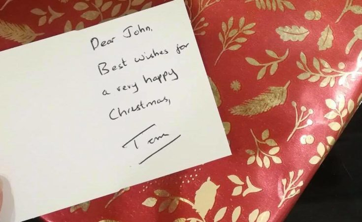 Find John - do you know whose Christmas present this is?