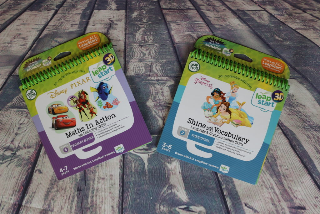 Leapfrog LeapStart 3D books Disney Pixar Maths in Action & Disney Princess Shine with Vocabulary review (74)