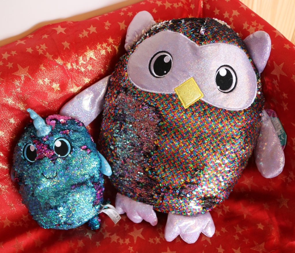Shimmeez soft toy reversible sequins review (18)