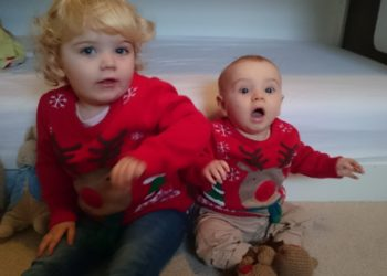 Three years ago Christmas jumpers on