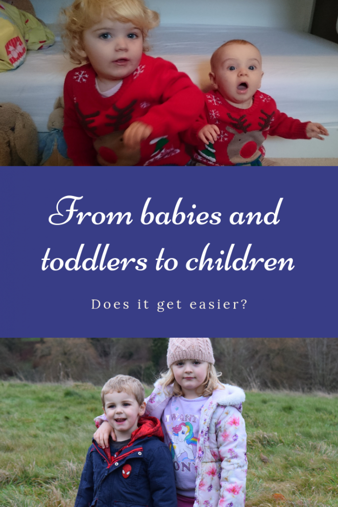 Three years of blogging has seen me go from babies and toddlers to children. Does it get easier? What's harder, newborns, babies, toddlers or school children? #parenting #mumlife #momlife #mombloggers #children #babies #toddlers #kids