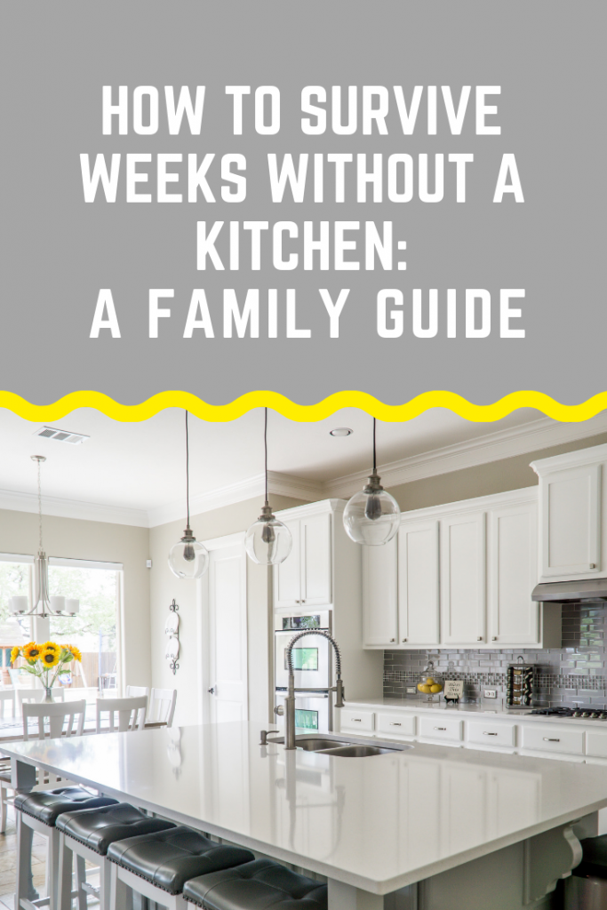 If you're about to have a new family kitchen or going through a kitchen renovation, here are some tips for how to survive weeks without a kitchen! #renovations #kitchenrenovation #kitchen #familytips