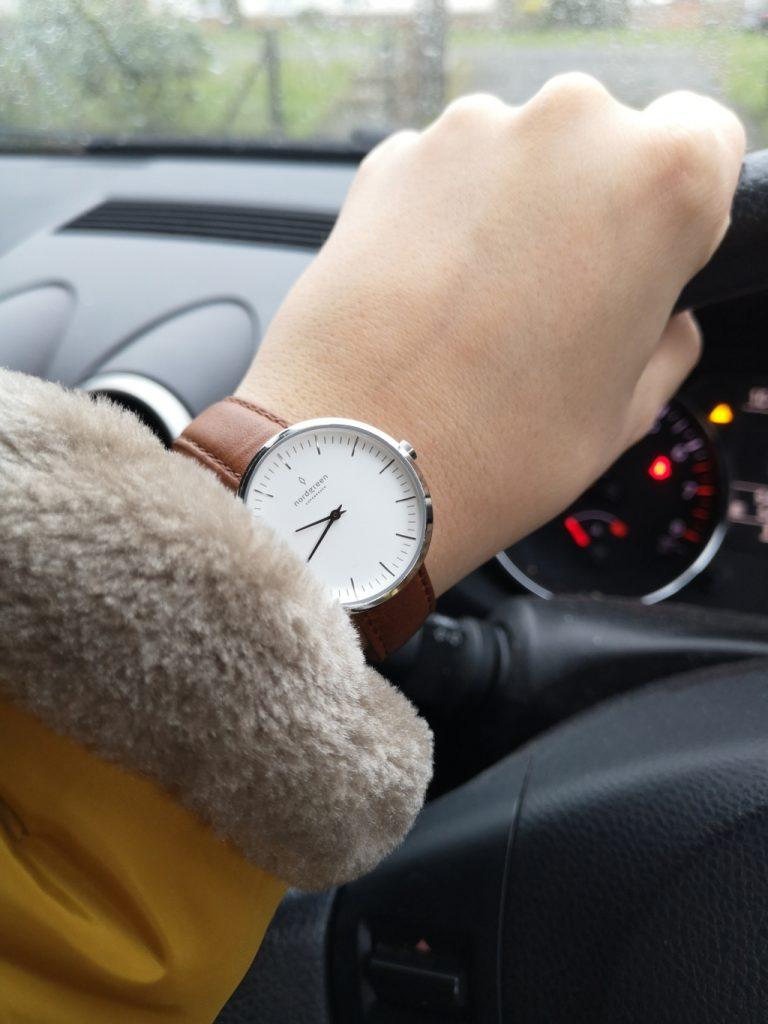 Nordgreen minimalist ladies watch review - Infinity silver brown strap