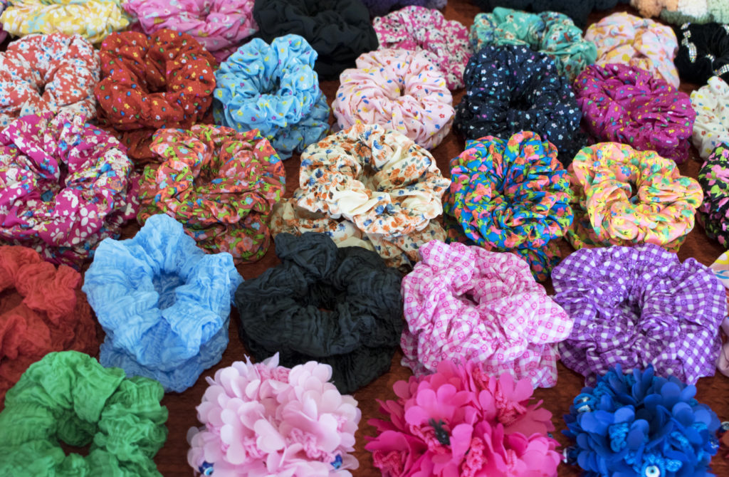 A nostalgic 90s gift guide - what to buy for a 30 something woman - hair scrunchies!