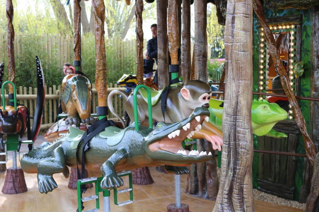 Drusillas park new Rainforest Carousel ride