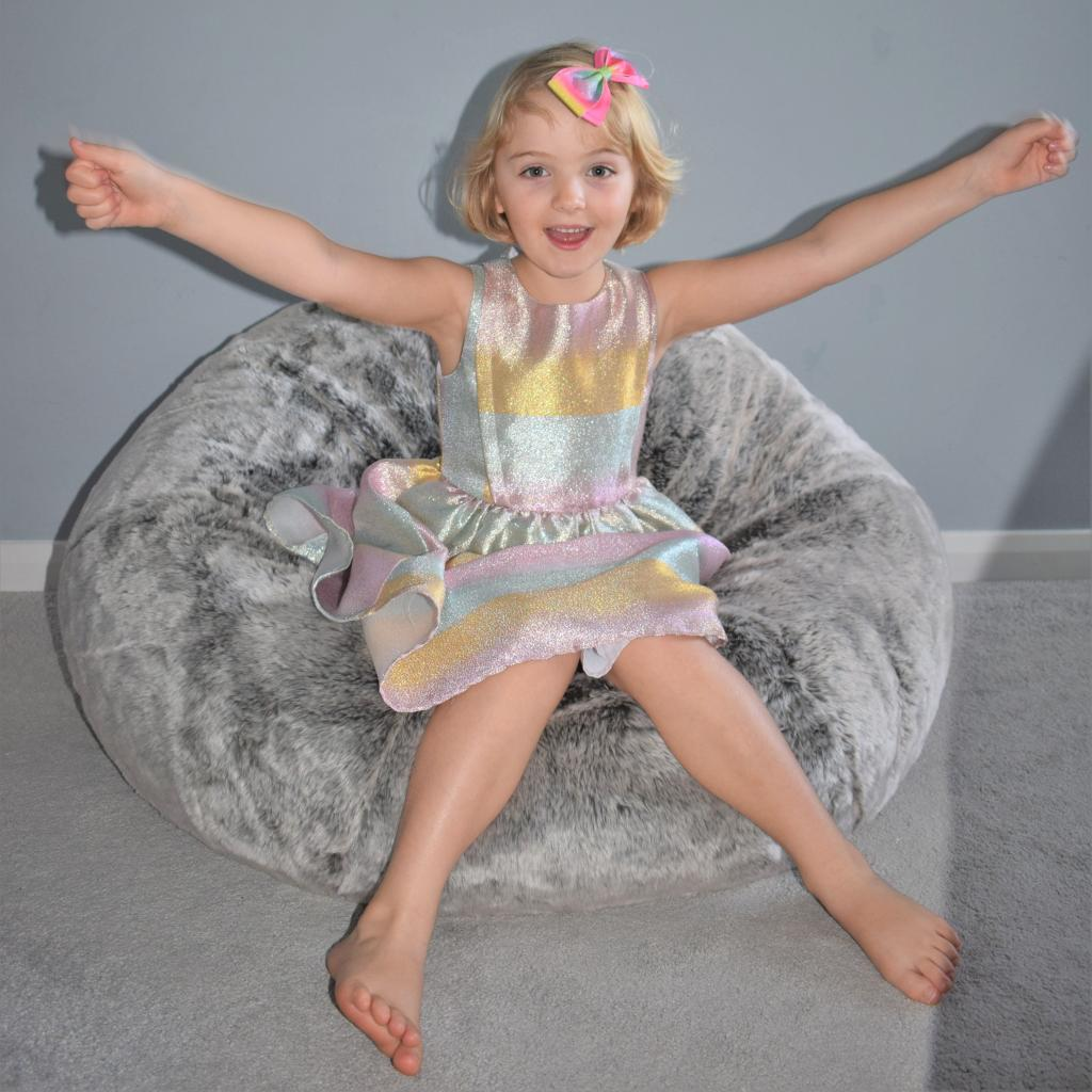 Stupendous Xl Icon Faux Fur Bean Bag In Grey From Bean Bag Bazaar Ocoug Best Dining Table And Chair Ideas Images Ocougorg